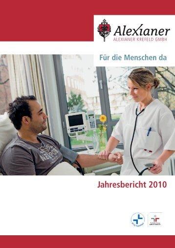 Jahresbericht 2010 -  Alexianer-Krankenhaus Krefeld