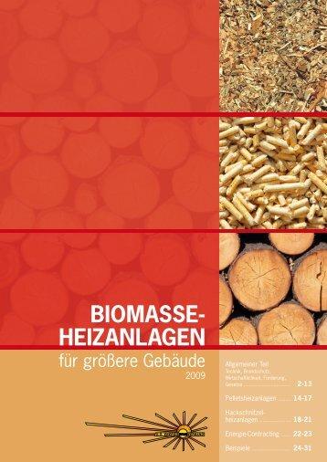 Biomasse- heizanlagen - O.Ö. Energiesparverband