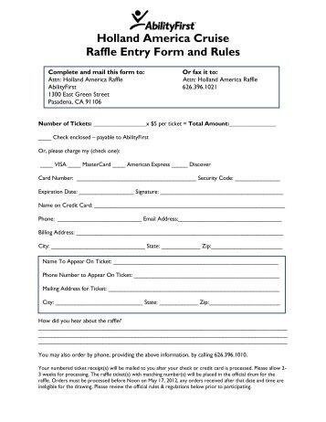 LACE Raffle Participant Form