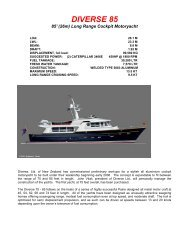 DIVERSE 75 AND 85 - C.W. Paine Yacht Designers