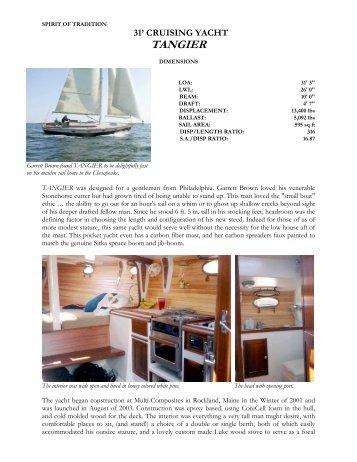 TANGIER - C.W. Paine Yacht Designers