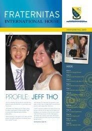 profile: Jeff Tho - International House - University of Melbourne