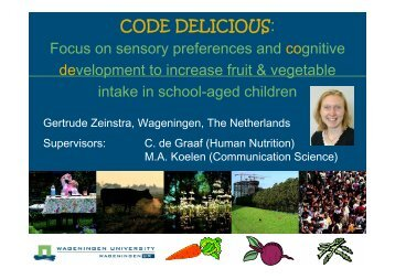 CODE DELICIOUS: Focus on sensory preferences ... - Mint Innovation
