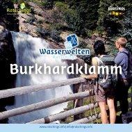 Broschüre Burkhardklamm - Ratschings