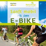 Sanft mobil mit dem E-Bike - Alpine Pearls