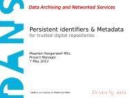 Persistent identifiers & Metadata for trusted digital ... - RatSWD
