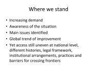 Where we stand - RatSWD