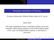 Persistent Identifiers in Practice - RatSWD