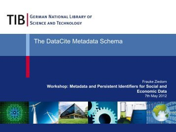The DataCite Metadata Schema - RatSWD