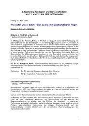 3. Konferenz für Sozial- und Wirtschaftsdaten am 11. und ... - RatSWD