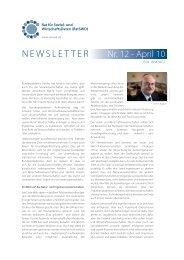 RatSWD Newsletter Nr. 12 - April 2010