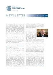RatSWD Newsletter Nr. 11 - Januar 2010