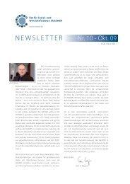 RatSWD Newsletter Nr. 10 - Oktober 2009