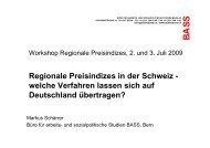 Regionale Preisindizes in der Schweiz - welche ... - RatSWD