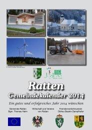 Gemeindekalender 2014 - Ratten