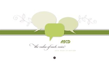 The Value of Each Voice: 2010 Year in - ASCD