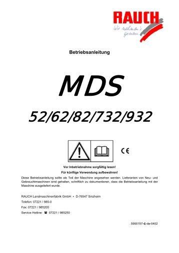 BA MDS 52-932 DE - Rauch