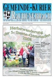 Jahrgang 2008 Freitag, den 29. August 2008 Nummer 8 Termin ...