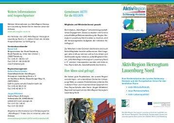 AktivRegion Herzogtum Lauenburg Nord - Institut Raum & Energie ...