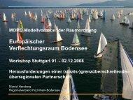 Europäischer Verflechtungsraum Bodensee - Institut Raum & Energie
