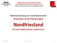 Wertentwicklung am Immobilienmarkt - Institut Raum & Energie
