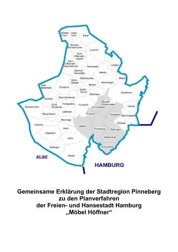 Gemeinsame Erklärung der Stadtregion Pinneberg zu den ...