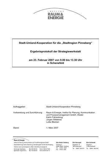 """Stadt-Umland-Kooperation für die """"Stadtregion Pinneberg ..."""