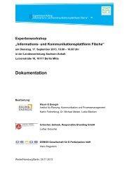 Informations- und Kommunikationsplattform Fläche - Institut Raum ...
