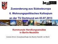 Kommunale Handlungsansätze in Berlin-Neukölln - TU Dortmund