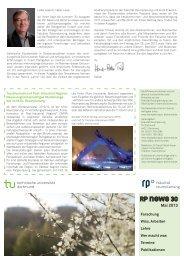 RPnews 30 / Februar 2013 - Fakultät Raumplanung - TU Dortmund