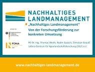 Nachhaltiges Landmanagement - TU Dortmund