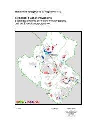 Teilbericht Flächenentwicklung - Institut Raum & Energie