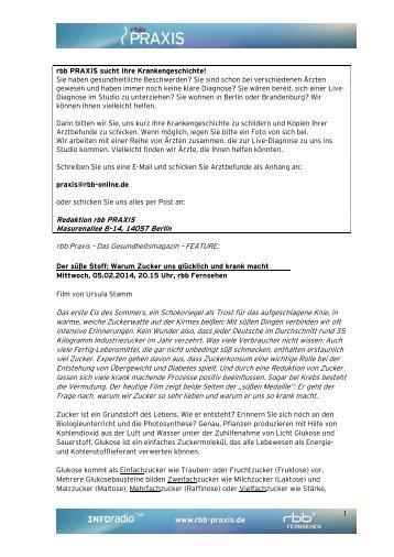 Infoblatt vom 05.02.2014 - RBB