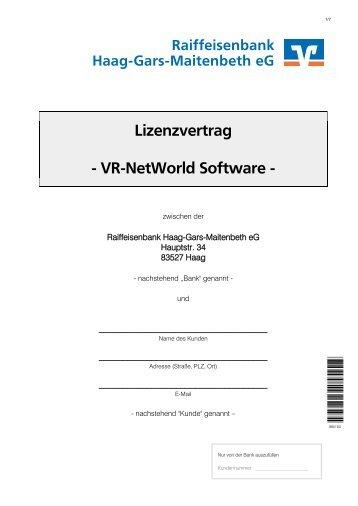 Mietlizenzvertrag Vr Networld Software Rb Gotha Raiffeisenbank