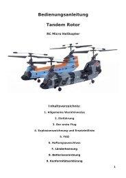Bedienungsanleitung Tandem Rotor - RC-Toy