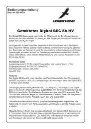 Getaktetes Digital BEC 5A-HV - RC-Toy