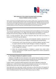 RCN Response to London Assembly Diabetes Review