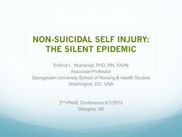 NON-SUICIDAL SELF INJURY: THE SILENT EPIDEMIC - RCN