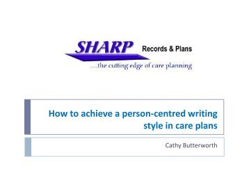 Cathy Butterworth presentation - RCN