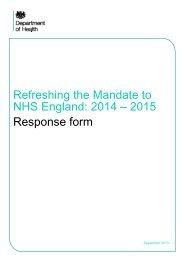 Refreshing the Mandate to NHS England RESPONSE.pdf