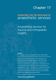 Guidance on the provision of anaesthesia services for trauma and ...