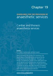 Guidance on the provision of cardiac and thoracic anaesthesia ...