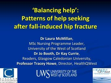 Patterns of help seeking after fall-induced hip fracture (PDF ... - RCN