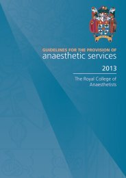 Guidelines for the Provision of Anaesthetic Services (GPAS) 2013