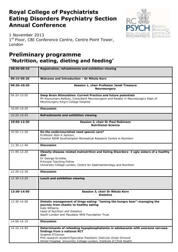 Programme - Royal College of Psychiatrists