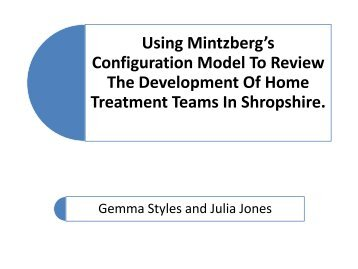 Using Mintzberg's Configuration Model To Review The ...