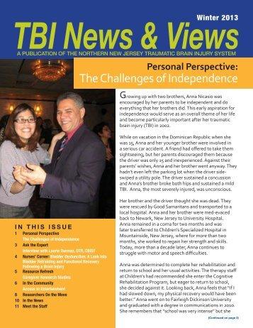 TBI newsletter - Kessler Foundation
