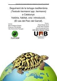 Seguiment de la tortuga mediterrània (Testudo hermanni ... - Recercat