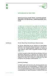 Wasserversorgung Stadt Villach, Landeshauptstadt Klagenfurt am ...