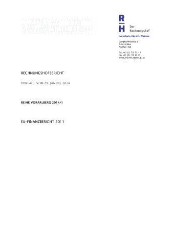 rechnungshofbericht eu–finanzbericht 2011 - Der Rechnungshof